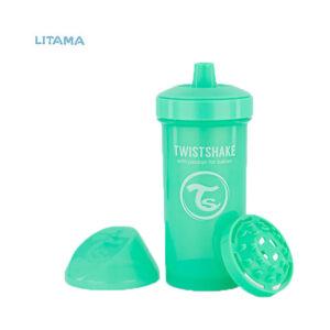 لیوان آبخوری تویست شیک سبز پاستلی ۳۶۰ میل