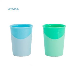 لیوان آبخوری تویست شیک سبز و آبی پاستلی ۱۷۰ میلی لیتر