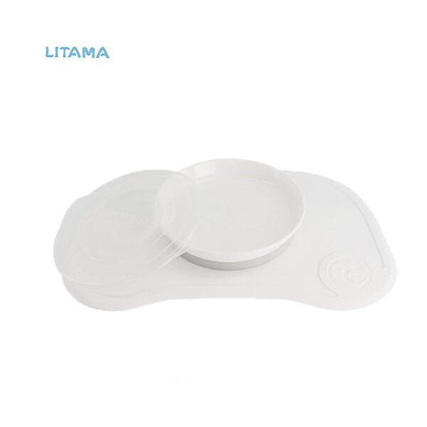 ظرف غذا خوری و صفحه نگهدارنده بزرگ سفید تویست شیک