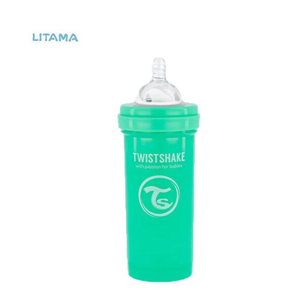 شیشه شیر آنتی کولیک تویست شیک سبز پاستل