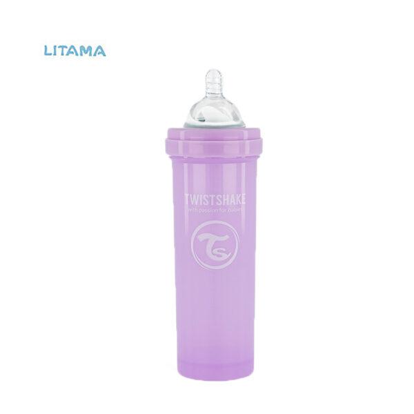 شیشه شیر آنتی کولیک تویست شیک بنفش پاستلی