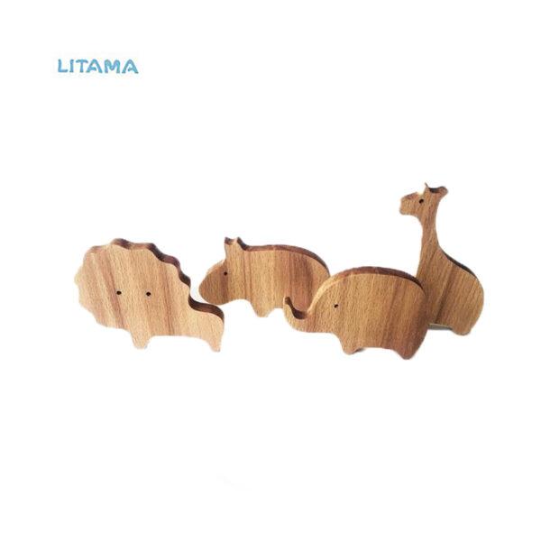 دیوارکوب چوبی طرح شیر