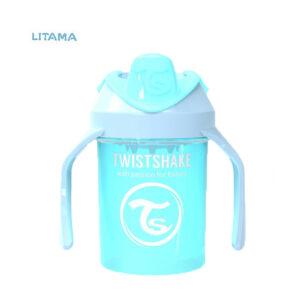 لیوان آبخوری دسته دار تویست شیک آبی پاستل ۲۳۰ میلی لیتر