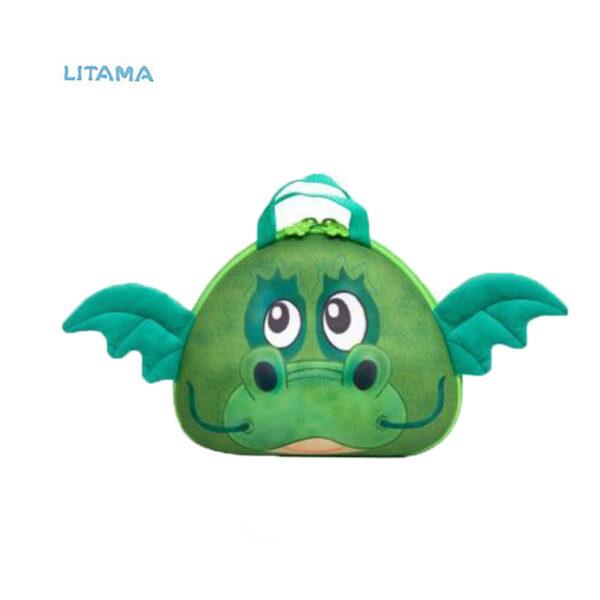کیف رودوشی بچه گانه اوکی داگ مدل اژدها سبز