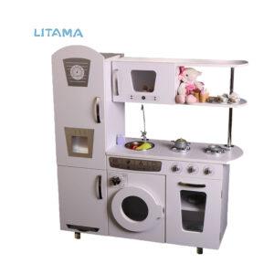 آشپزخانه دکوری کودک سفید نقره ای