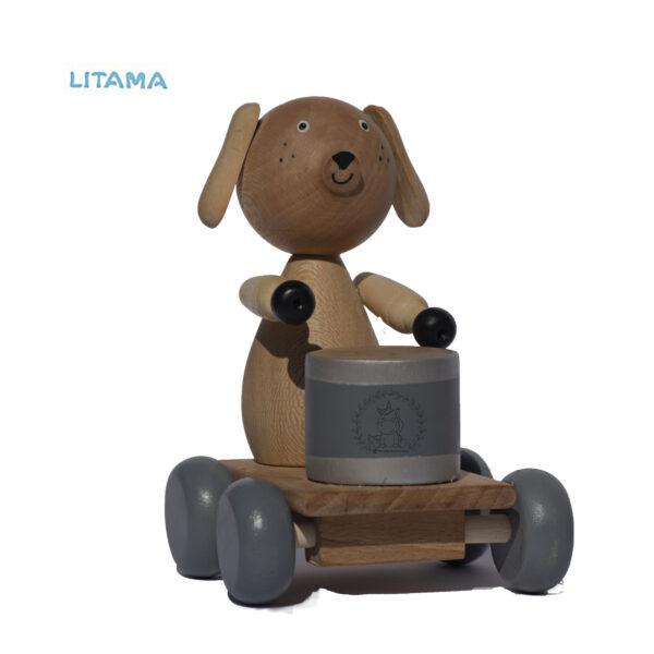 اسباب بازی چوبی سگ طبل زن دریم لند دیزاین