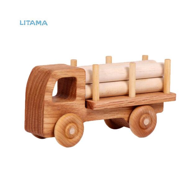 ماشین اسباب بازی چوبی هیپو تویز مدل Timber truck