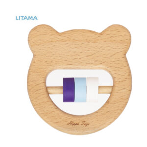 جغجغه چوبی هیپو تویز طرح خرس