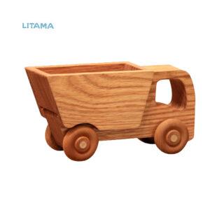 ماشین اسباب بازی چوبی هیپو تویز مدل Dump truck
