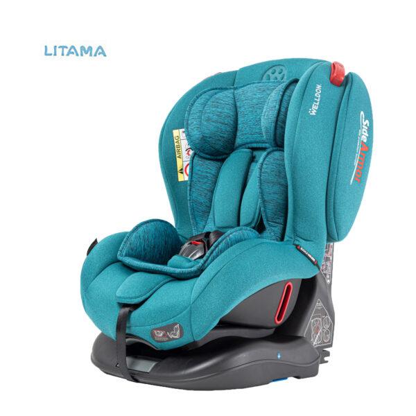 صندلی ماشین کودک ولدون Welldon مدل آتلانتیس رنگ فیروزه ای
