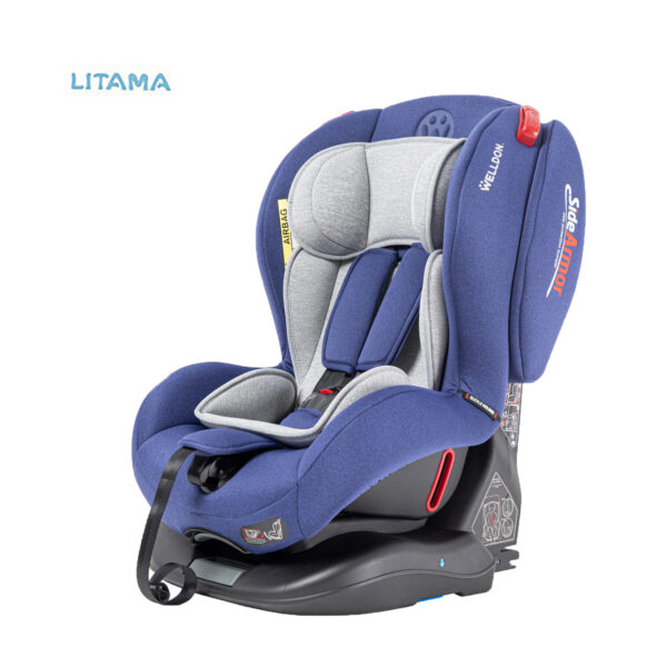 صندلی ماشین کودک ولدون Welldon مدل آتلانتیس رنگ آبی کاربنی